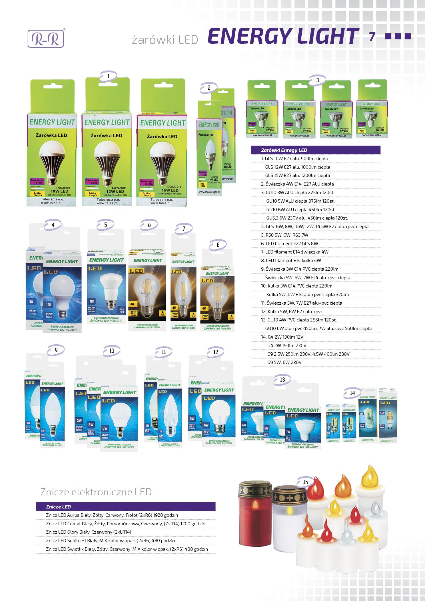 Żarówki LED / Znicze elektroniczne