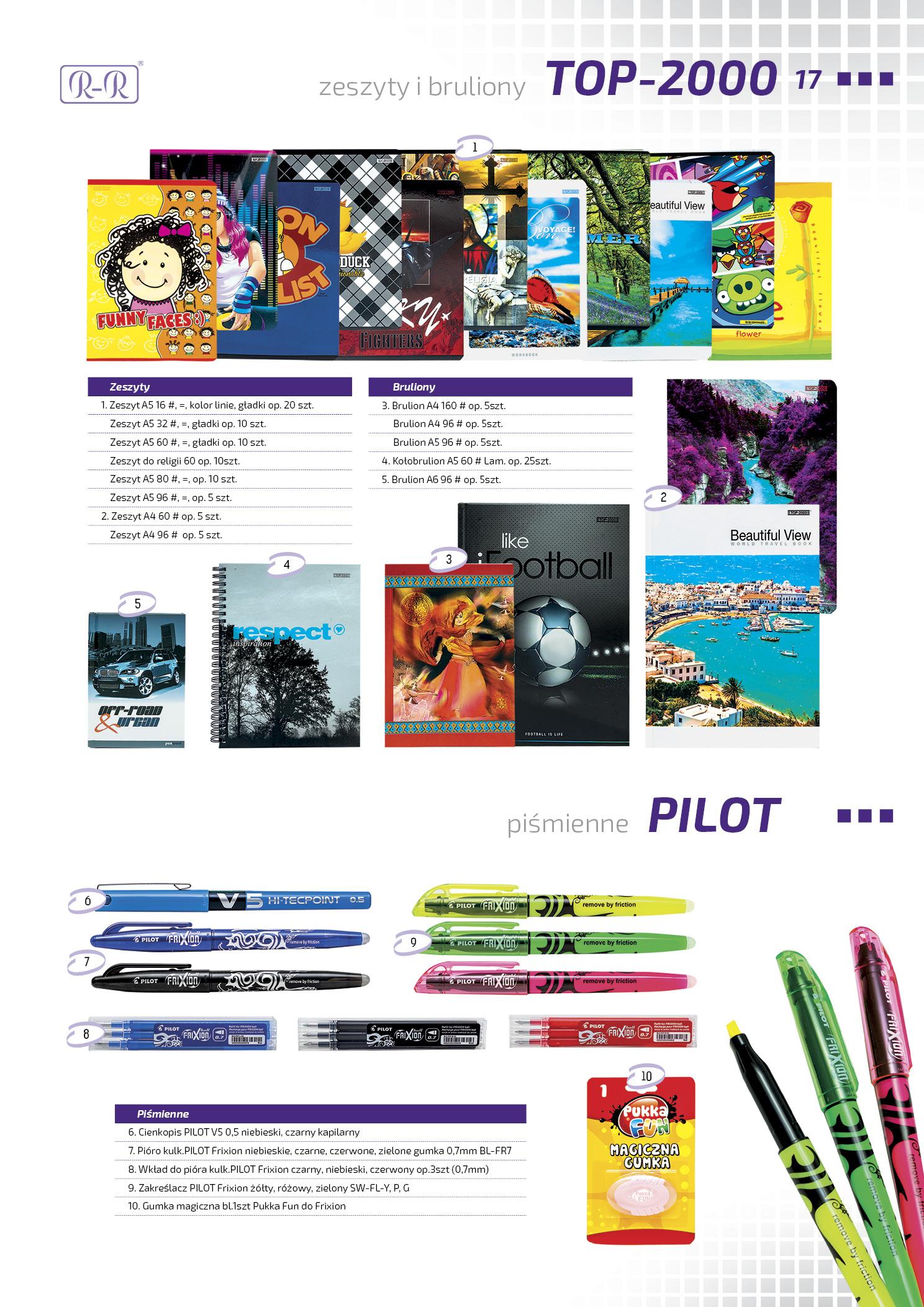 Artykuły szkolne TOP-2000 / Pilot